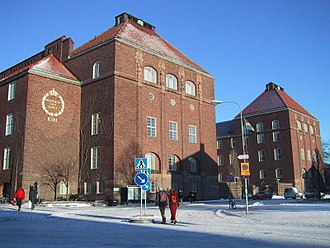 KTH Royal Institute of Technology - Main building in winter