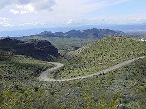 U.S. Route 66 in Arizona - Route 66 between Oatman and Kingman