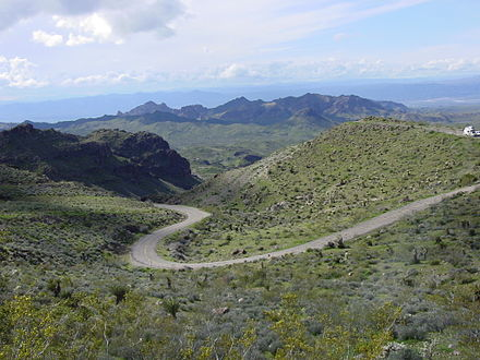 Route 66 between Oatman and Kingman Rte66btwnOatmanAndKingman.JPG