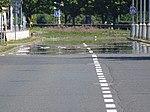 Ruzyně, Laglerové, zrcadlení nad vozovkou (01).jpg