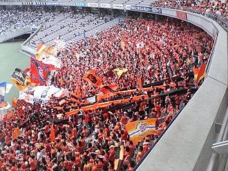 Shimizu S-Pulse - S-Pulse fans make the hundred mile trip to F.C. Tokyo, September 2007