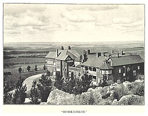 Parktown mansions - Hohenheim was the first of the Parktown mansions when completed in 1894. It was demolished in 1972 when the Johannesburg Academic Hospital was built.