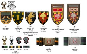 1 South African Infantry Battalion - SADF era 1 SAI insignia