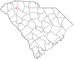 Location of Mauldin, South Carolina
