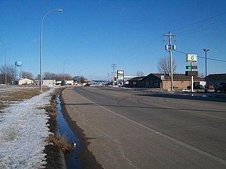 South Dakota Highway 38 - SD 38 eastbound in Hartford