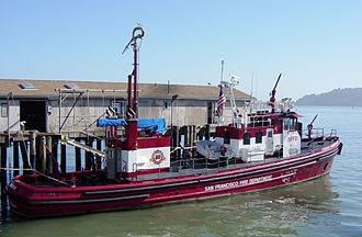 Phoenix (fireboat) - Phoenix at Pier 22½