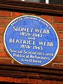 SIDNEY WEBB 1859-1947 and BEATRICE WEBB 1858-1943 Social Scientists and Political Reformers lived here.jpg