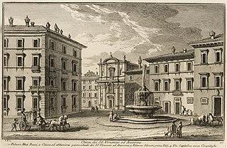 Santi Venanzio e Ansovino church building in Rome, Italy