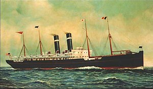 SS Kroonland, painted in 1903 by Antonio Jacobsen (1850–1921)