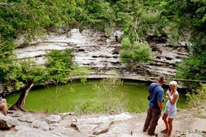 Itza people - The sacred cenote that gave its name to Chichen Itza.
