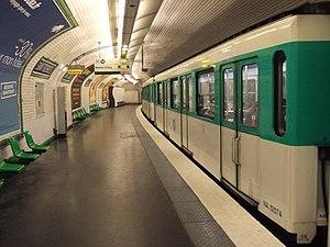 Saint-Georges (Paris Métro) - Image: Saint Georges Paris Métro platform