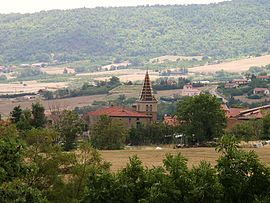 The church and surroundings in Saint-Appolinard