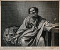 Saint Mark. Engraving by G. Rousselet after Valentin de Bolo Wellcome V0032601.jpg