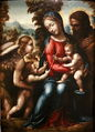 Saint family with Saint John the Baptist and angel-Giovan Antonio Bazzi mg 9967.jpg