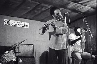 Sam Rivers - Sam Rivers on flute / Joe Daley on Euphonium playing at Studio Rivbea jazz loft, July, 1976, New York City