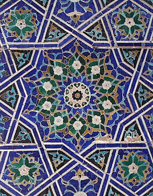 Girih - Image: Samarkand Shah i Zinda Tuman Aqa complex cropped 2