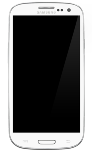 Samsung Galaxy S III multi-touch, slate-format smartphone running the Android operating system