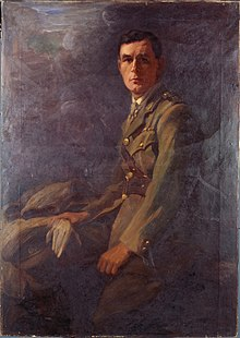 a formal painting of a man in a military uniform