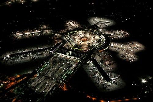 San Francisco International Airport at night