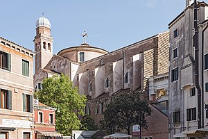 Tolentini, Venice - The north side of the church and the campaile.