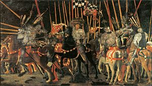 San Romano Battle (Paolo Uccello, Paris) 01.jpg