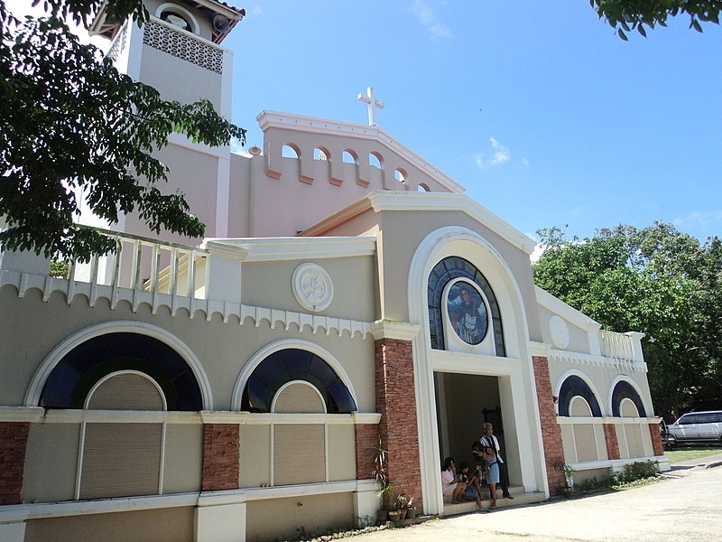 File:San Vicente Parish side view Gumaca, Quezon.JPG