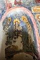 San lorenzo in insula, cripta di epifanio, affreschi di scuola benedettina, 824-842 ca., cristo benedicente alla greca tra i ss. lorenzo e stefano 01.jpg