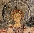 San lorenzo in insula, cripta di epifanio, affreschi di scuola benedettina, 824-842 ca., madonna in trono bendicente e sei angeli con scettro e globo 08.jpg