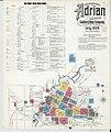 Sanborn Fire Insurance Map from Adrian, Lenawee County, Michigan. LOC sanborn03900 004-1.jpg