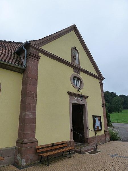 Sanctuaire Notre-Dame de Bonne-Fontaine. Entrée de la chapelle des franciscains.