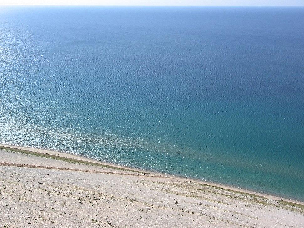Sand dunes from Lake Michigan Overlook, Sleeping Bear Dunes National Lakeshore