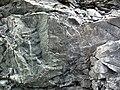 Sandorite intrusive contact with country rock (Sandor Dike, Neoarchean, 2.703 Ga; Route 17 roadcut northeast of Wasp Lake & north of Wawa, Ontario, Canada) 9 (48342370607).jpg