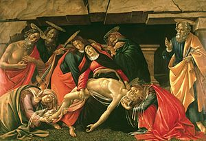 Lamentation Over the Dead Christ, Botticelli, 1490-1510