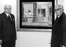 Giorgio de Chirico e Sandro Pertini