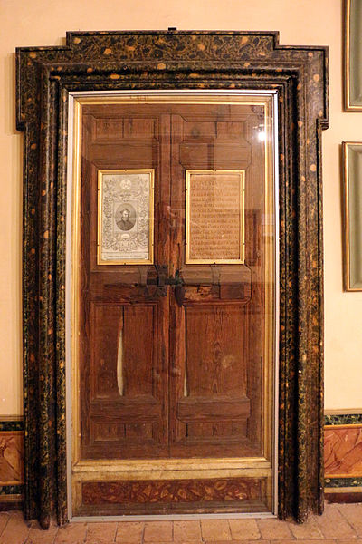 File:Sant'andrea al quirinale, stanze del convento, 06 porta della camera di san francesco borgia.JPG