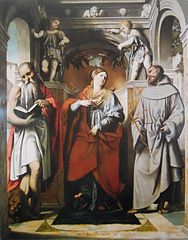 Saint Margaret of Antioch with Saints Jerome and Francis