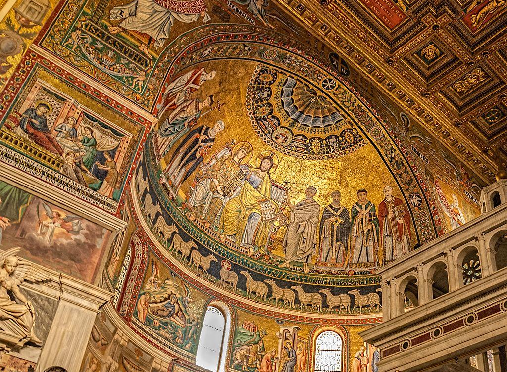 Mosaique de la basilique Sainte-Marie-du-Trastevere à Rome - Photo de Gary Ullah