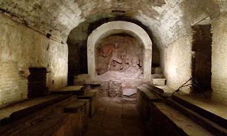 Santa Prisca, Rome - Inside the Mithraeum of Santa Prisca, Rome.