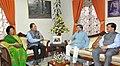 Santosh Kumar Gangwar calls on the Chief Minister of Mizoram, Shri Lal Thanhawla, in Aizawl, Mizoram on July 03, 2015. The Secretary, Ministry of Textiles, Dr. S.K. Panda is also seen.jpg