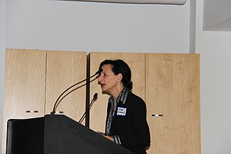 Sara Diamond (college president) - Sara Diamond speaking at a reception for the calendar project in 2014