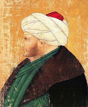 Muraqqa - 15th century portrait of Mehmet II (1432-1481), showing Italian influence
