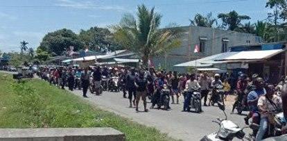Sarmi Protests Long March