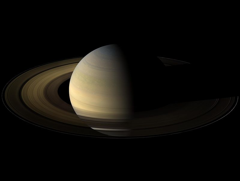 Saturn at its equinox.
