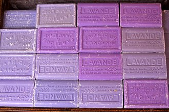 Lavender (color) - Soap bars with lavender from Provence