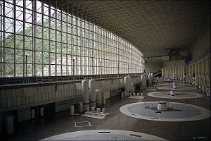 Sayano–Shushenskaya Dam - Generator hall of Sayano–Shushenskaya Dam.