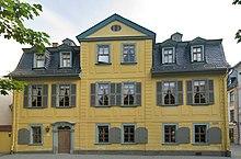 Schillers Wohnhaus in der heutigen Schillerstraße in Weimar (Quelle: Wikimedia)