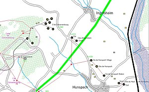 Ouvrage Schoenenbourg - Image: Schoenenbourg carte