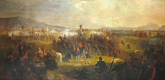 Battle of Cedar Creek - The First Vermont Brigade at the Battle of Cedar Creek, by Julian Scott (1870)
