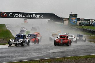 Legends car racing - Scottish legends championship race start at Knockhill