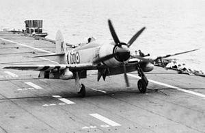 Sea Fury landing on HMAS Sydney (R17) off Korea c1951.jpg